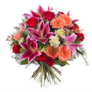 Bouquet of Roses with Lilies