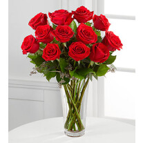 E2-4305 The Long Stem Red Rose Bouquet by FTD® - VASE INCLUDED
